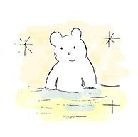 Plush Bear in Hotspring